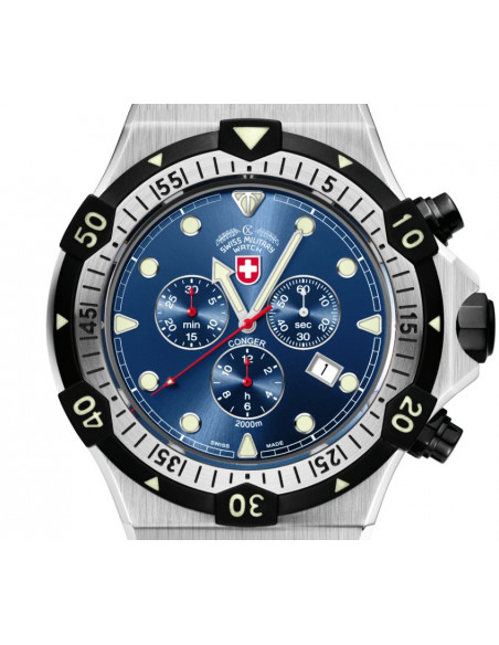 CX Swiss Military 2217 Conger quartz chronograph watch