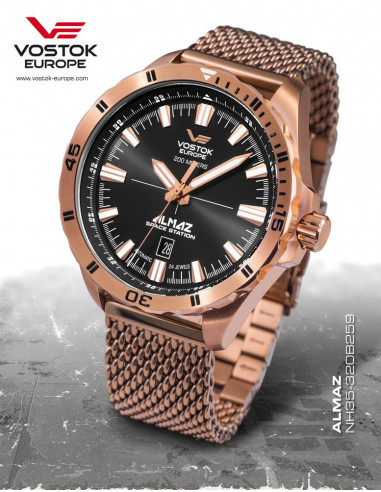 Vostok Europe NH35A-320B259B Almaz automatic watch