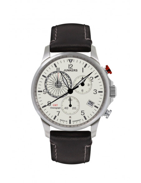 Junkers 6892-5 Worldtimer GMT Chronograph watch