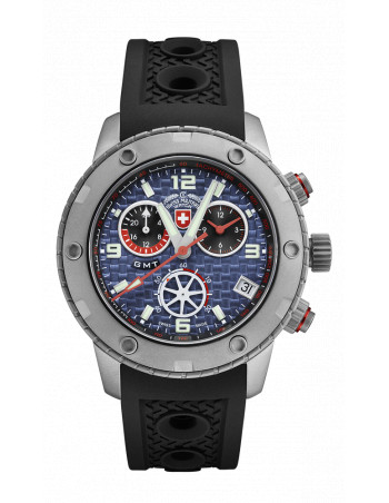 CX Swiss Military 2747 Rallye GMT Watch