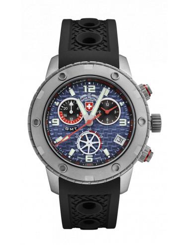 CX Swiss Military 2747 Rallye GMT Watch