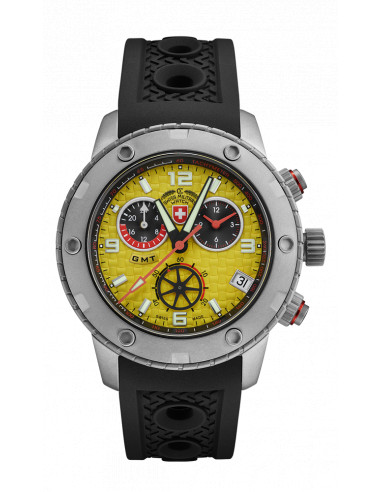 CX Swiss Military 2749 Rallye GMT Watch