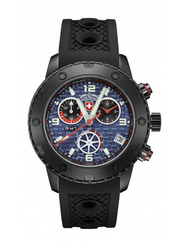 CX Swiss Military 2752 Rallye GMT Nero Watch
