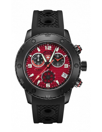 CX Swiss Military 2753 Rallye GMT Nero Watch
