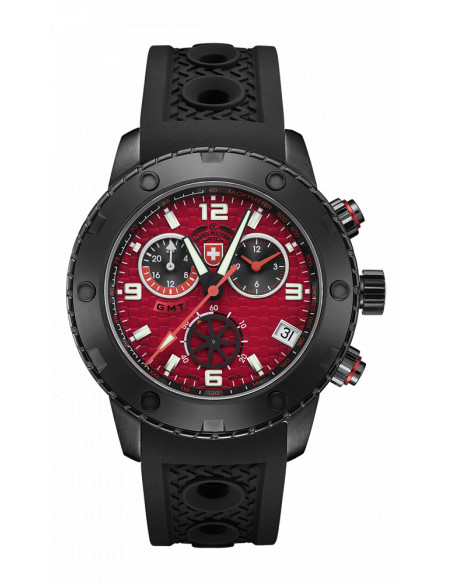 CX Swiss Military 2753 Rallye GMT Nero Watch