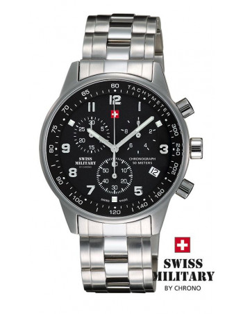 Men's Swiss Military by CHRONO 20042-ST-1M Watch