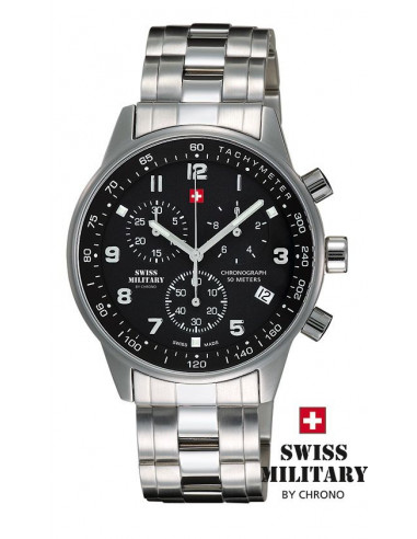 Men's Swiss Military by CHRONO 20042-ST-1M Watch