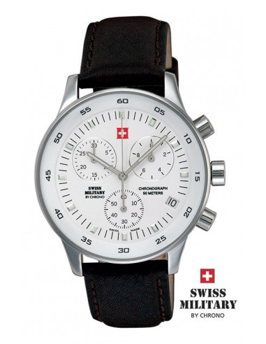 Men's Swiss Military by CHRONO 17700-ST-2L Watch