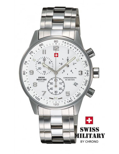 Men's Swiss Military by CHRONO 20042-ST-2M Watch