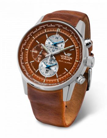 Vostok Europe YM26/565A292 GAZ 14 Worldtimer and alarm watch