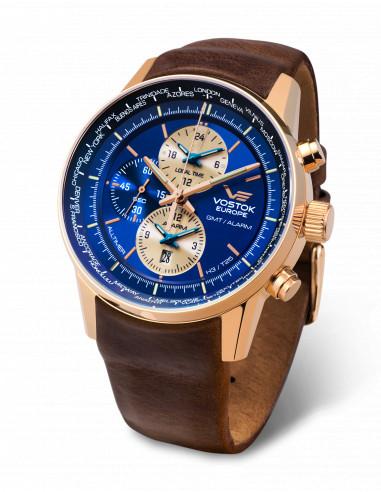 Vostok Europe YM26/565B293 GAZ 14 Worldtimer and alarm watch