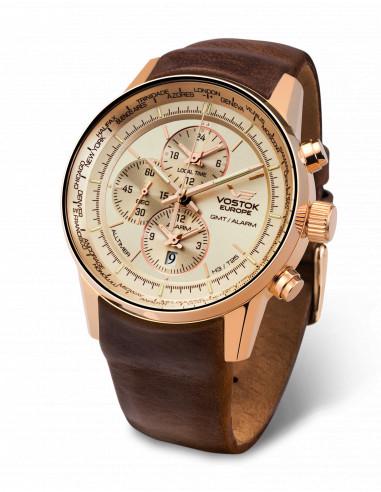 Vostok Europe YM26/565B294 GAZ 14 Worldtimer and alarm watch