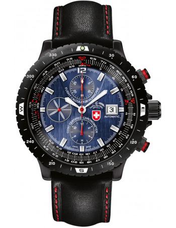 CX Swiss Military Hurricane blue 2117 watch