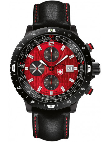 CX Swiss Military Hurricane red 2118 watch