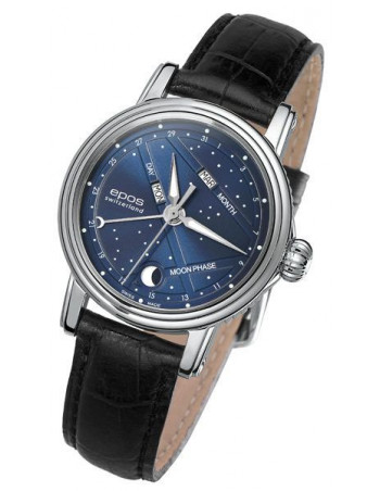 EPOS Ladies 4391.832.20.16.15 Moonphase Watch