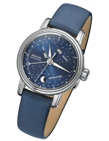EPOS Ladies 4391.832.20.16.86 Moonphase Watch