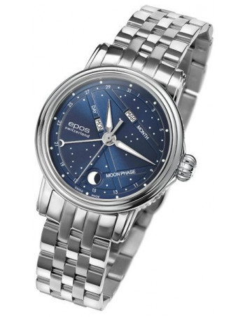 EPOS Ladies 4391.832.20.16.30 Moonphase Watch