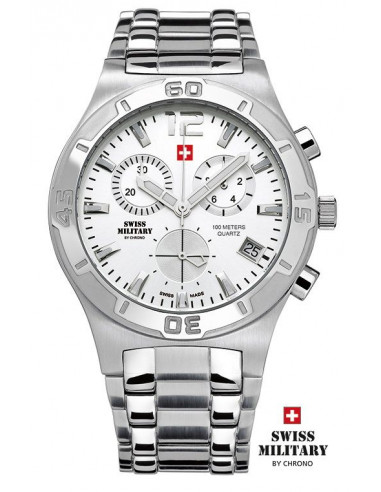Ceas militar pentru bărbați elvețian Chrono 20072-ST-2M