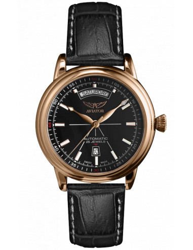 AVIATOR Douglas dzień-data V.3.20.2.146.4 zegarek 1023.423786 - 1