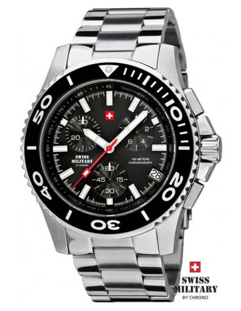 Men's Swiss Military by Chrono 20084-ST-1M watch