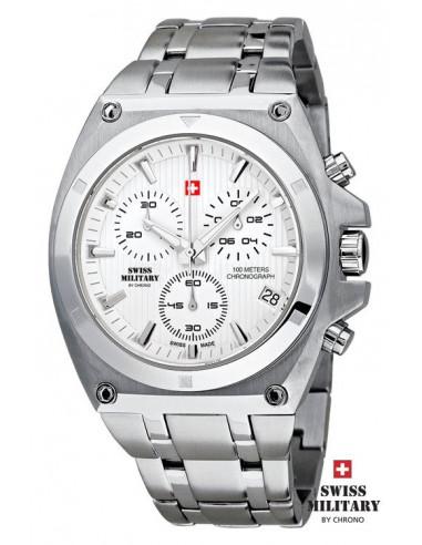 Ceas militar Elvețian pentru bărbați de Chrono 20083-ST-2M