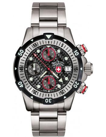 CX Swiss Military 20000 FEET black 1946 watch