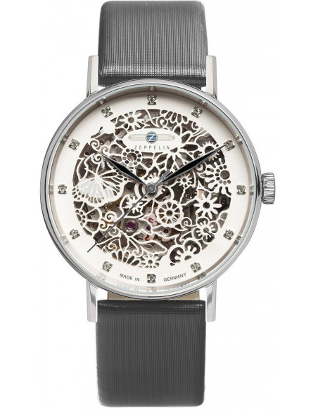 Zeppelin 7461-1 Princess of the Sky skeleton Uhr