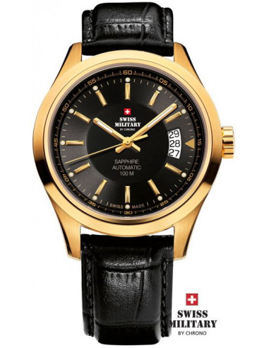 Ceasuri militare elvețiene pentru bărbați de ceasul CHRONO 20056-PL-1LBK