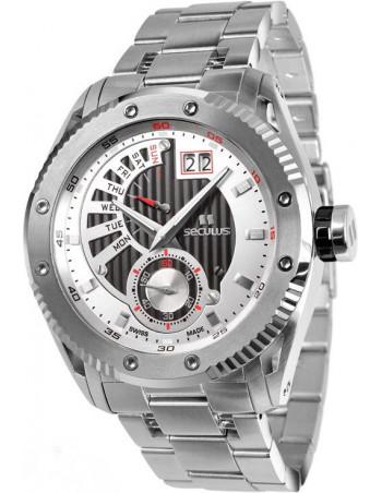 Men's SECULUS 9535.2.704P M SS B-W Calender Watch