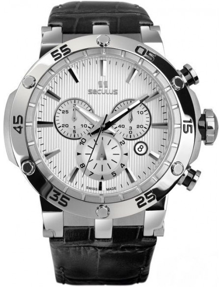 Men's SECULUS 4502.2.503D Silver Chronograph Watch