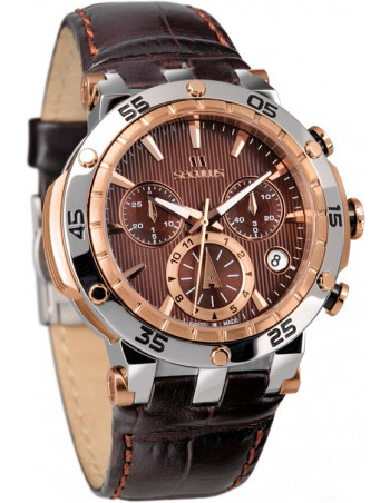 Ladies SECULUS 4502.2.503D Brown Dial Chronograph Watch