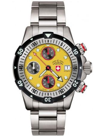 CX Swiss Military 20000 FEET yellow 1948 watch