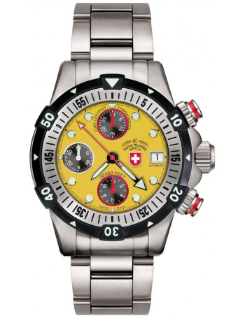CX Swiss Military 20000 FEET yellow 1948 watch