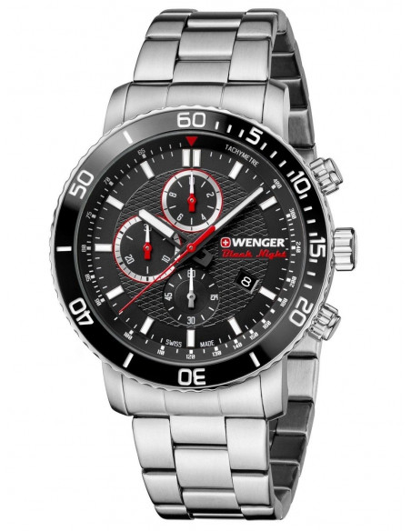 Wenger Black Night Roadster 01.1843.106 chrono watch Wenger - 2