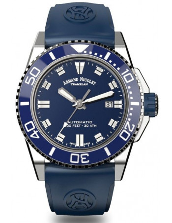 Armand Nicolet A480AGU-BU-GG4710U JS9 diver watch