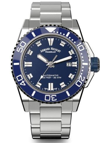 Armand Nicolet A480AGU-BU-MA4480AA JS9 diver watch