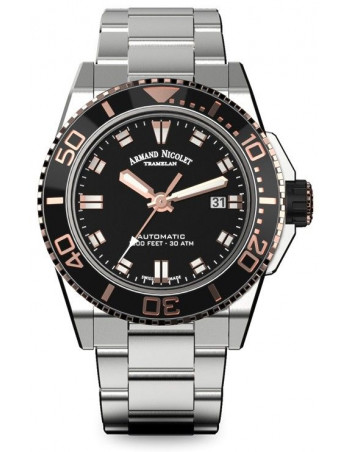 Armand Nicolet A480ASN-NS-MA4480AA JS9 diver watch