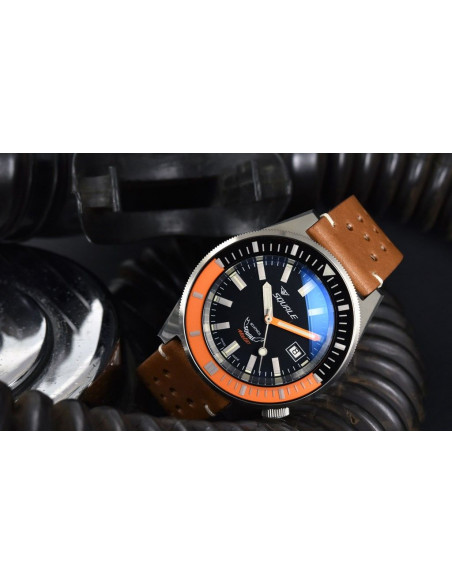Squale Squalematic 60ATM Black/Orange professional diving watch Squale - 2