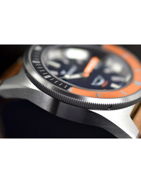 Squale Squalematic 60ATM Black/Orange professional diving watch Squale - 7
