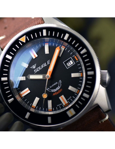 Squale Squalematic 60ATM Black professional diving watch Squale - 4