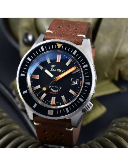 Squale Squalematic 60ATM Black professional diving watch Squale - 3