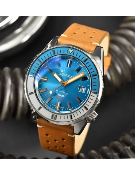 Squale Squalematic 60ATM Light Blue professional diving watch Squale - 2