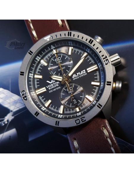 Vostok Europe 6S11-320H521 Almaz Titanium chronograph watch Vostok Europe - 2