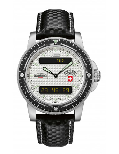 CX Swiss Military Delta EVO 2220 silver watch