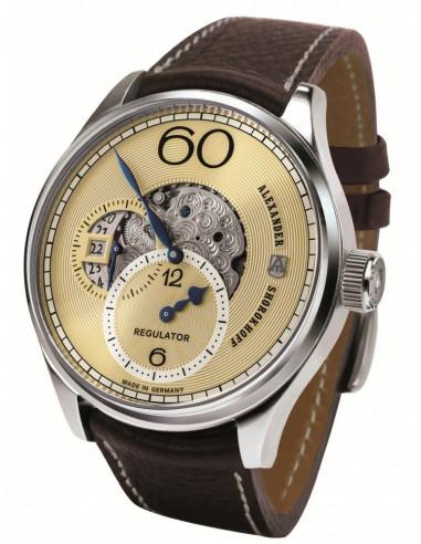Zegarek mechaniczny z regulatorem Alexander Shorokhoff AS.R02-2 2296.454167 - 1