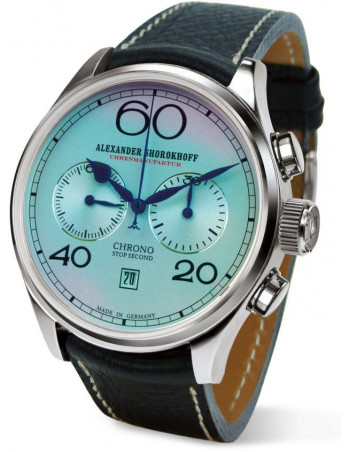 Alexander Shorokhoff AS.C01-1 Blue Sapphire manual winding chronograph watch Alexander Shorokhoff - 2