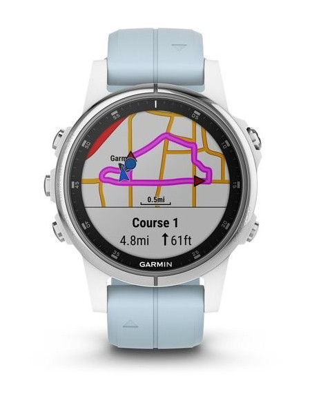 Garmin Fēnix® 5S Plus White with Sea Foam Band 010-01987-22 smartwatch Garmin - 9