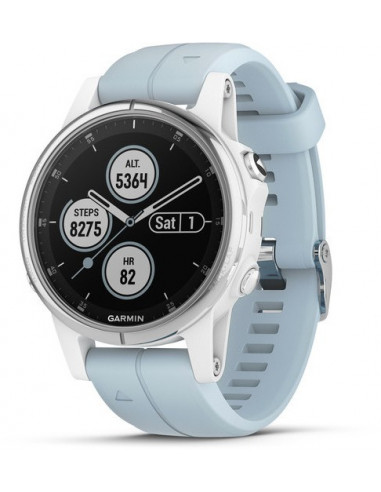 Garmin Fēnix® 5S Plus White with Sea Foam Band 010-01987-22 smartwatch Garmin - 1