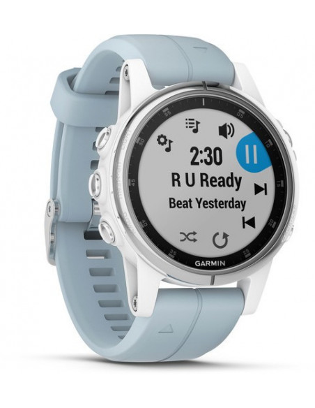 Garmin Fēnix® 5S Plus White with Sea Foam Band 010-01987-22 smartwatch Garmin - 2