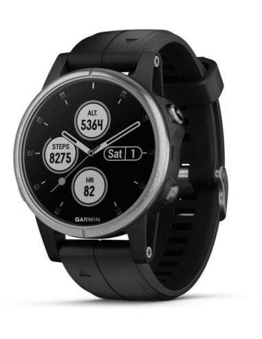 Garmin Fēnix® 5S Plus Silver with Black Band 010-01987-21 smartwatch Garmin - 1